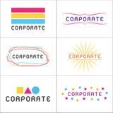 Logotipos corporativos Fotografia de Stock
