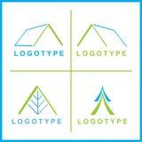 Logotipos corporativos do vetor Fotografia de Stock