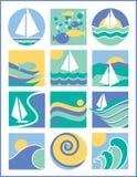 Logotipos da água Fotos de Stock Royalty Free