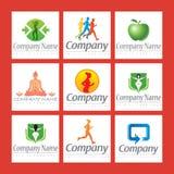 Logotipos da aptidão Fotos de Stock