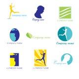 Logotipos da beleza imagem de stock