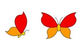 Logotipos da borboleta Fotografia de Stock Royalty Free