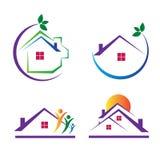Logotipos da casa Fotografia de Stock