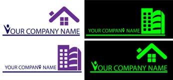 Logotipos da casa para a empresa Imagem de Stock