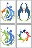 Logotipos da coleção da estrela dos pares Fotos de Stock Royalty Free