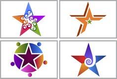 Logotipos da coleção da estrela do redemoinho Imagens de Stock