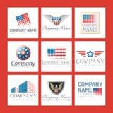 Logotipos da companhia Foto de Stock