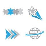 Logotipos da companhia Imagens de Stock Royalty Free