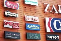 Logotipos da companhia Fotografia de Stock