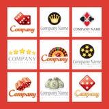 Logotipos da companhia para casinos ilustração royalty free
