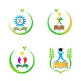 Logotipos da educação Foto de Stock
