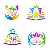 Logotipos da educação Imagem de Stock Royalty Free