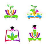 Logotipos da educação Imagens de Stock