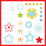 logotipos da estrela do vetor Fotos de Stock