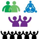 Logotipos da família Fotos de Stock Royalty Free