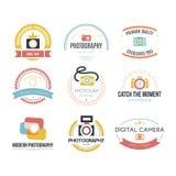 Logotipos da fotografia Fotografia de Stock