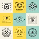 Logotipos da fotografia Imagens de Stock Royalty Free