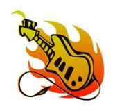 Logotipos da guitarra Fotografia de Stock