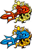 Logotipos da mascote do diabo Foto de Stock