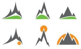 Logotipos da montanha Fotografia de Stock