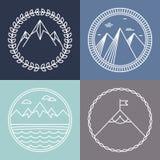 Logotipos da montanha do vetor Fotografia de Stock