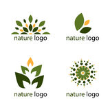 Logotipos da natureza Foto de Stock Royalty Free