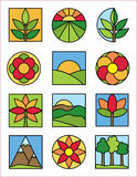 Logotipos da natureza Imagens de Stock Royalty Free