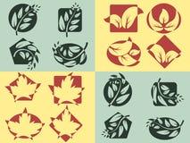 Logotipos da natureza ajustados Imagens de Stock