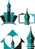 Logotipos da pena ilustração royalty free