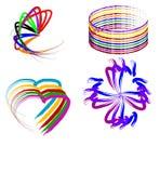 Logotipos da pincelada Fotografia de Stock