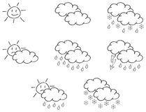 Logotipos da previsão de tempo Fotos de Stock Royalty Free