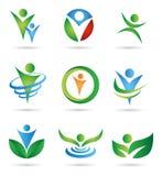 Logotipos da saúde Fotografia de Stock