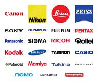 Logotipos das empresas da fotografia do vetor ajustados Imagem de Stock Royalty Free