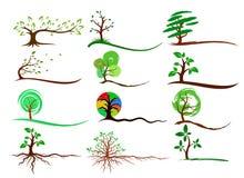 Logotipos de árboles libre illustration