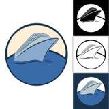 Logotipos de barcos de cruceros Imagen de archivo