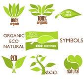 Logotipos de Eco Imagem de Stock