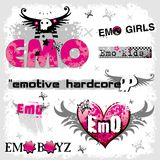 Logotipos de Emo Fotografia de Stock