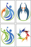 Logotipos de la colección de la estrella de los pares Fotos de archivo libres de regalías