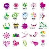 Logotipos de la colección para los salones de belleza Fotos de archivo libres de regalías