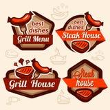 Logotipos de la comida fijados Imagen de archivo libre de regalías