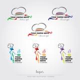 Logotipos de la comida y del restaurante Imágenes de archivo libres de regalías