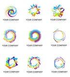 Logotipos de la compañía Fotografía de archivo libre de regalías