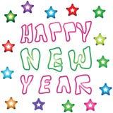 Logotipos de la Feliz Año Nuevo fotografía de archivo libre de regalías