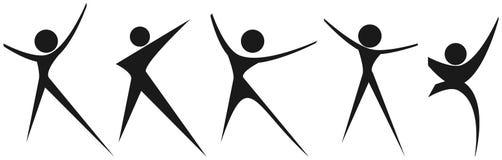 Logotipos de la gente Fotos de archivo libres de regalías