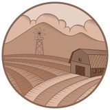 Logotipos de la granja y de la plantación foto de archivo