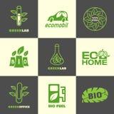 Logotipos de la hoja Imagenes de archivo