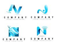 Logotipos de la letra N Imágenes de archivo libres de regalías