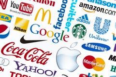 Logotipos de la marca de fábrica del mundo Foto de archivo libre de regalías