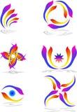 Logotipos de la naturaleza Fotos de archivo libres de regalías