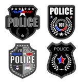 Logotipos de la policía Imágenes de archivo libres de regalías
